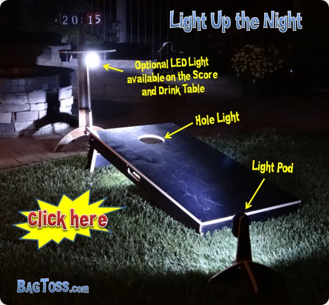 cornhole led hole lights
