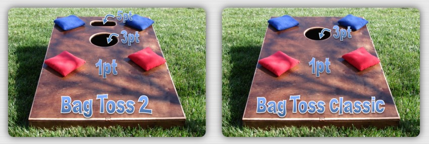 Cornhole game type with Bag Toss 2 and Classic.  You think air mailing a 3 pointer feels good, just imagine what that slot feels like.